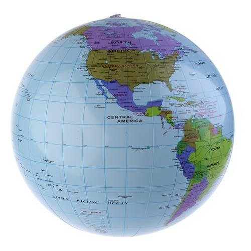 PMLand Earthball Inflatable World Globe Beach Ball (Set of 6)