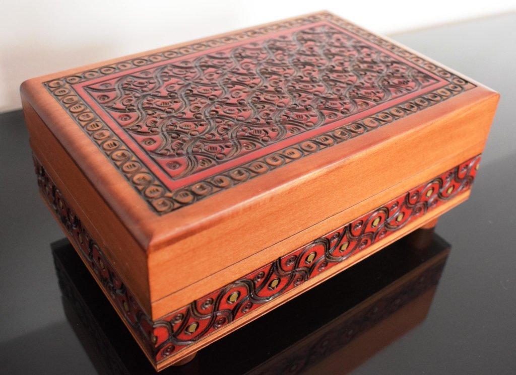 Wooden Keepsake Handmade Chinese Puzzle Box