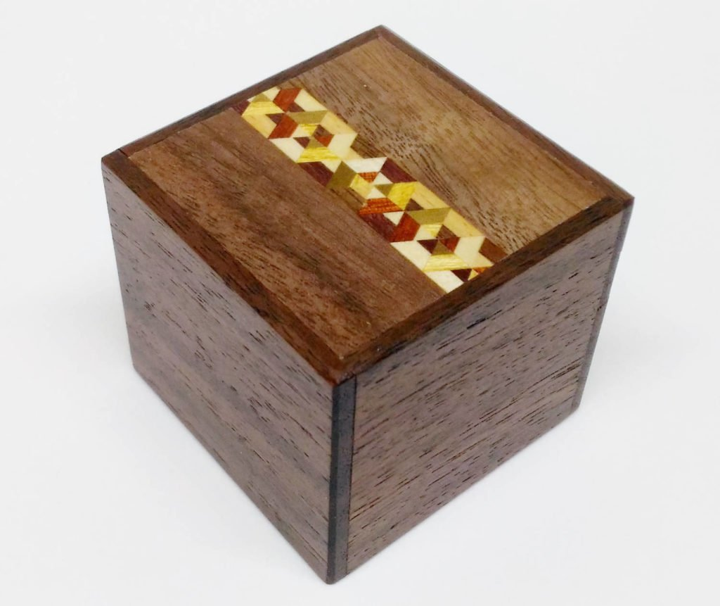 Yosegi 2 Sun Kobako Japanese Puzzle Box