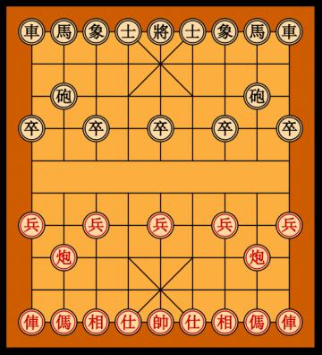 public domain picture of Xiangqi