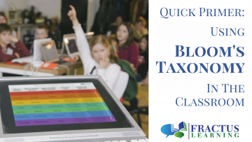 A Quick Primer on Using Bloom's Taxonomy In The Classroom