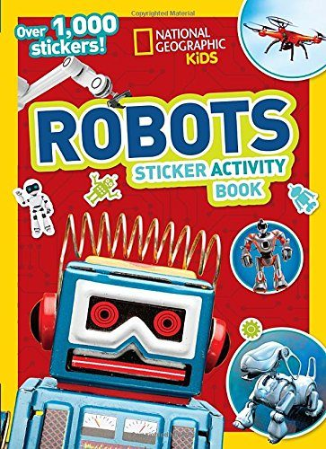 robot sticker book is fun