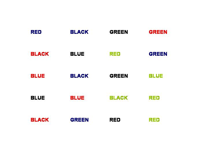 Image of Stroop Effect Illusion