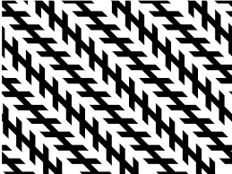 Image of Zollner Optical Illusion of parallel stripes