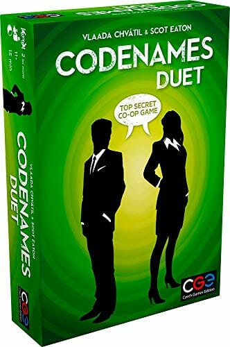 Czech Games Codenames Duet For Two Players In Green Box