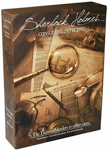 Sherlock Holmes Consulting Detectvie The Thames Murders Two Player Board Game With Brown Cover