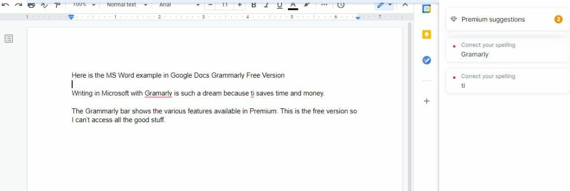 Grammarly Free Version Google Docs