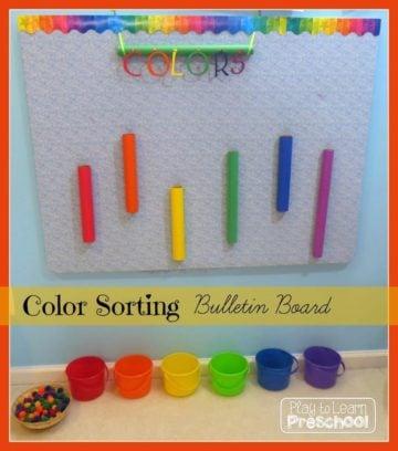 Color Sorting Interactive Bulletin Board