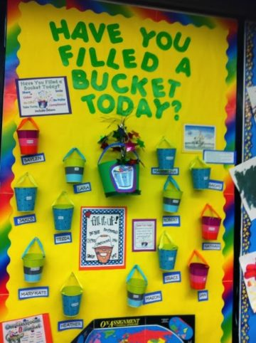 Have You Filled A Bucket Today Preschool Interactive Bulletin Board