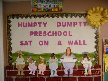 Humpty Dumpty Preschool Sat On The Wall