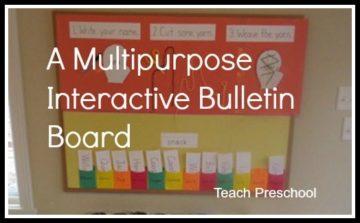 Multipurpose Interactive Bulletin Board For Preschool