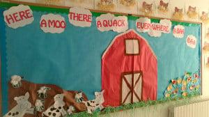 On The Farm Preschool Interactive Bulletin Board