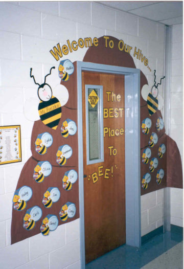 Welcome To Our Hive The Best Place To Bee Door Decoration