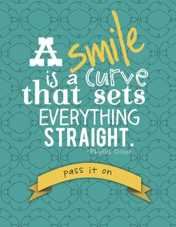 a smile is a curve that sets everything straight phyllis diller