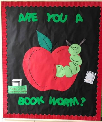 Are You A Book Worm Bulletin Board