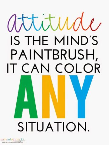 attitude is the mind's paintbrush, it can color any situation
