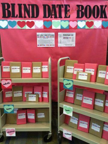 Blind Date Book Library Bulletin Board