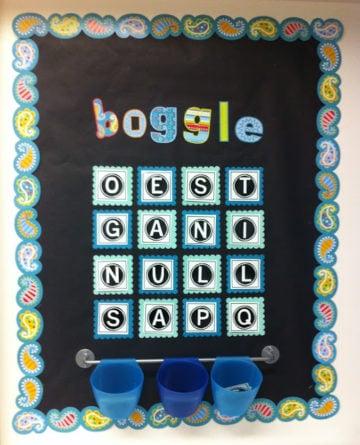 boggle interactive bulletin board