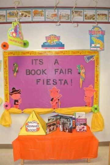 Book Fair Fiesta Libary Display