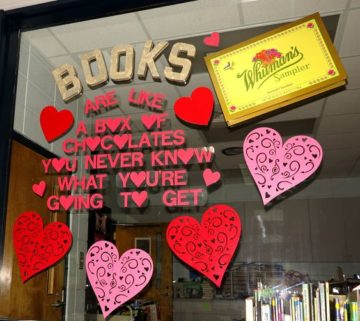 Books Are Like A Box Of Chocolates Library Window Display