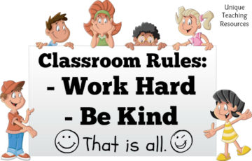 classroom rules work hard be kind that is all