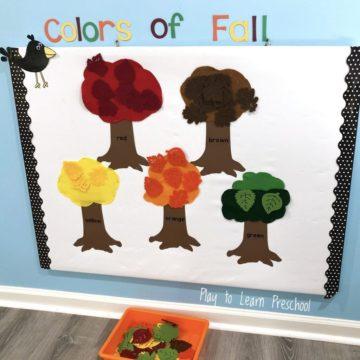 colors of fall interactive bulletin board