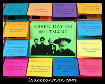 green day or whitman poetry interactive bulletin board