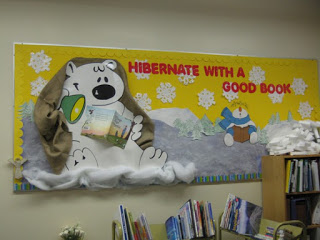 Hibernate With A Good Book Library Bulletin Board