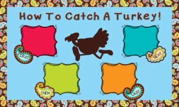 how to catch a turkey interactive bulletin boards