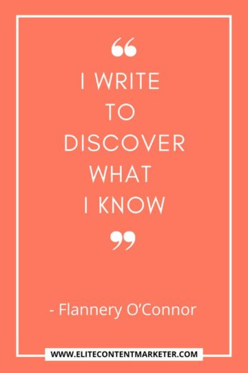 i write to discover what i know flannery o'connor