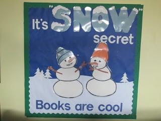 It's Snow Secret Books Are Cool Bulletin Board