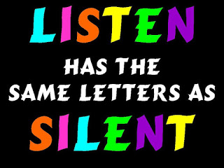 listen has the same letters as silent