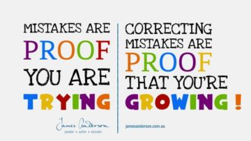 mistakes are proof you are trying correcting mistakes are proof that youre growing jams anderson