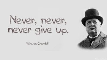 never never give up winston churchill