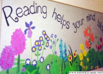 Reading Helps Your Mind Bloom Library Display