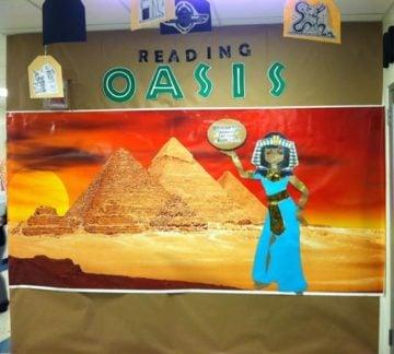Reading Oasis Library Book Fair Decor