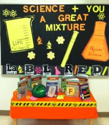 Science Plus You A Great Mixture Library Bulletin Board