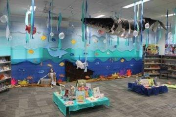 Shipwreck Under The Sea Book Fair Library Display
