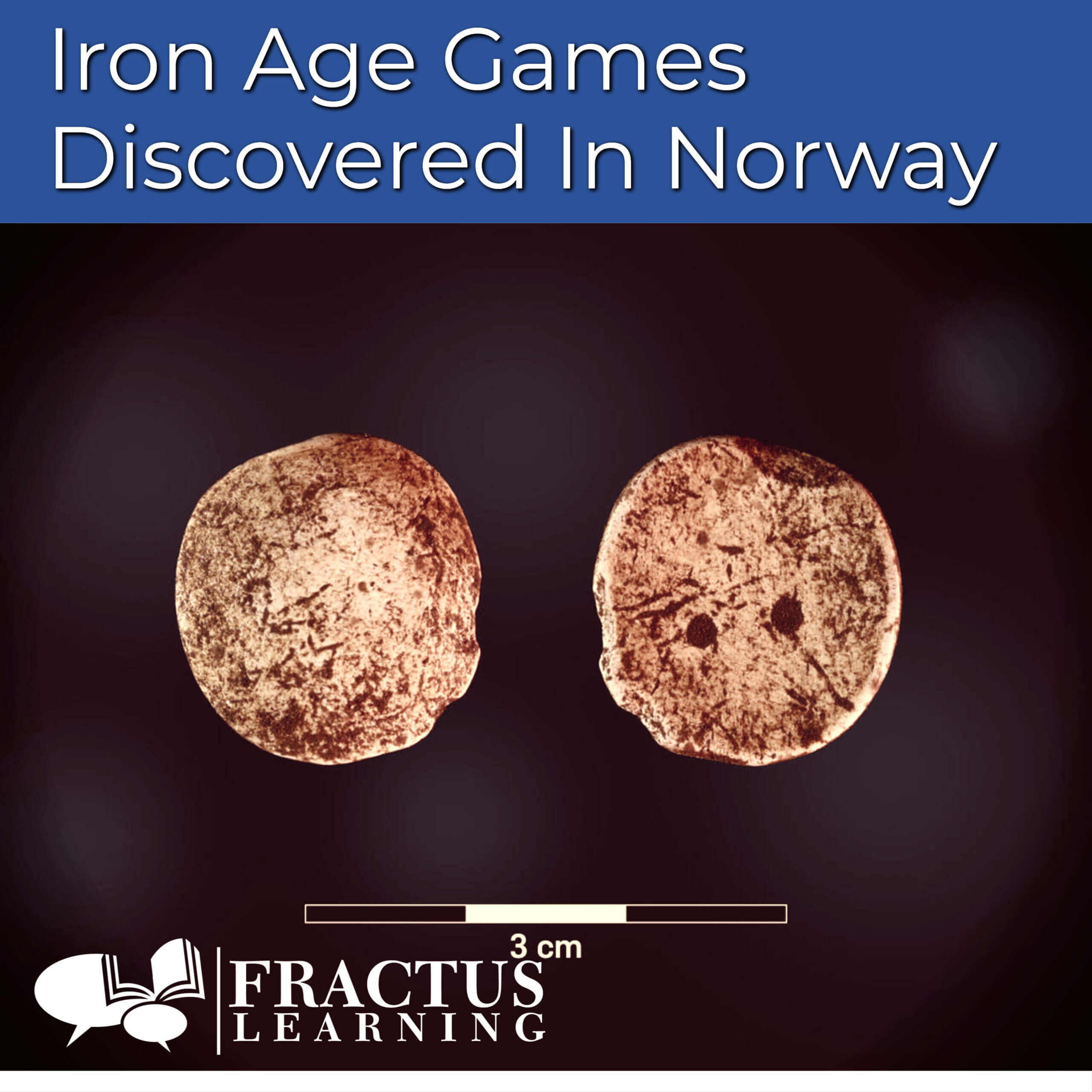 iron age game pieces - photo by UiB ( the University Museum of Bergen)