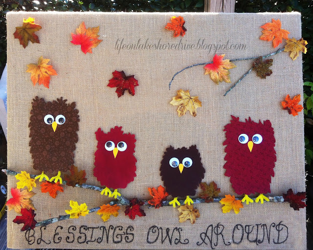 blessings owl around fall bulletin board