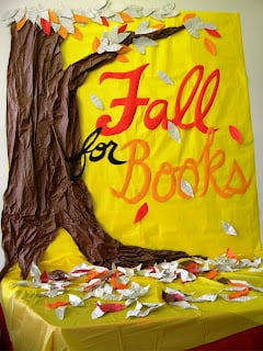 fall for books bulletin board decorations