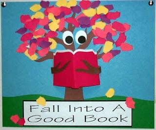 fall into a good book fall bulletin board