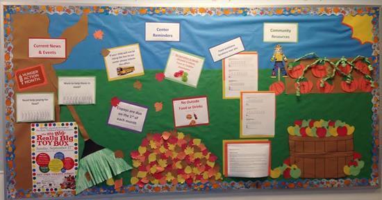fall themed classroom management bulletin board