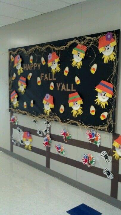 happy fall yall preschool fall bulletin board