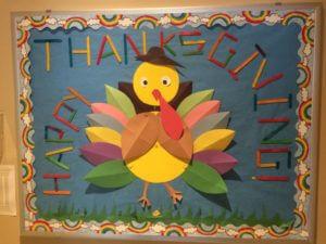 happy thanksgiving bulletin board