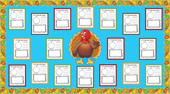 if i had a pet turkey activity thanksgiving board