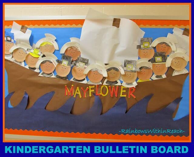 mayflower piligrims thanksgiving bulletin board