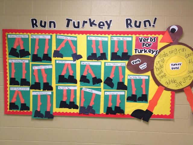 run turkey run verbs for turkeys bulletin board