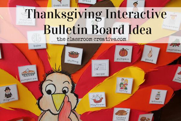 thanksgiving intearctive bulletin board idea