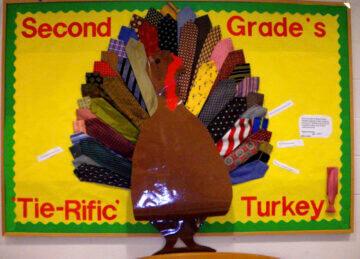 tie rific turkey bulletin board